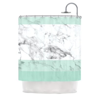 Mint Marble Fade Shower Curtain