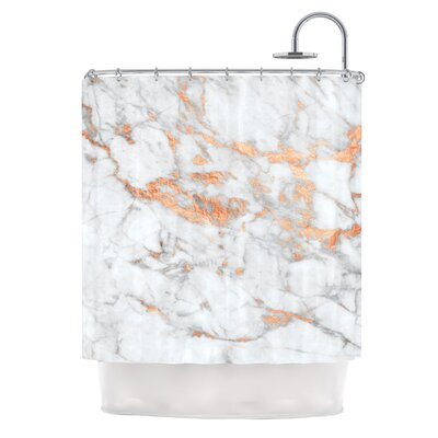 Rose Gold Flake Shower Curtain