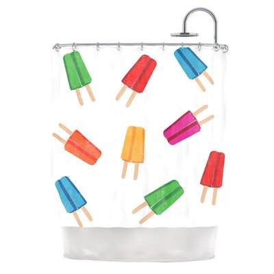 Raining Popsicle Digital Shower Curtain