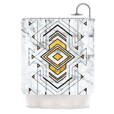 Geo Marble Graphic Tribal Shower Curtain