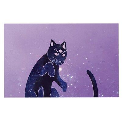 Cosmic Kitten Celestial Decorative Doormat