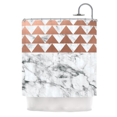 Marble & Metal Shower Curtain