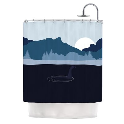 Swimming with Nessie Fantasy Shower Curtain