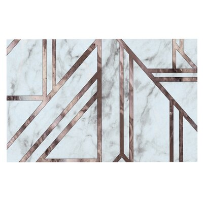 Dark Marble Mosaic Digital Decorative Doormat