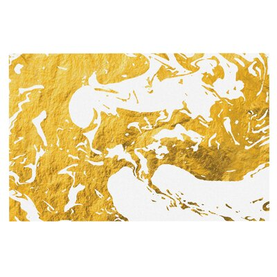 Gold Ink on Water Metal Decorative Doormat