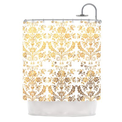 Baroque Shower Curtain Color: Gold