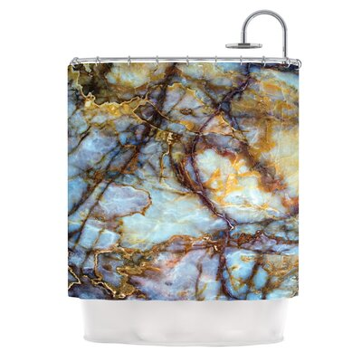 Opalized Marble Shower Curtain