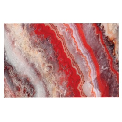 Red Lace Agate Doormat