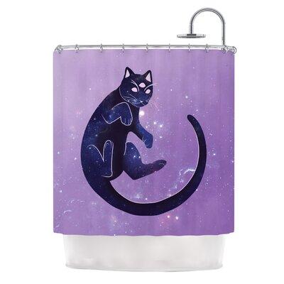 Cosmic Kitten Celestial Shower Curtain
