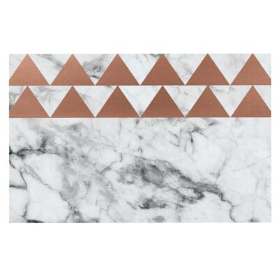 Marble & Metal Copper Decorative Doormat