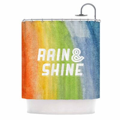 Rain & Shine Rainbow Shower Curtain