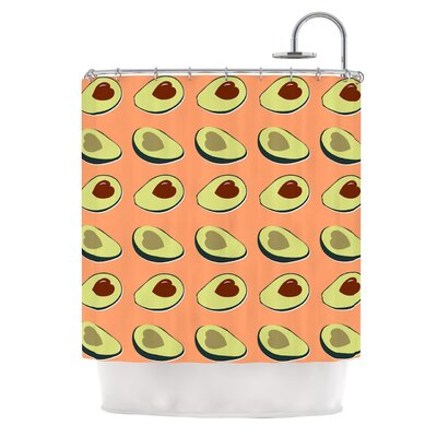 Avacado Love Food Shower Curtain