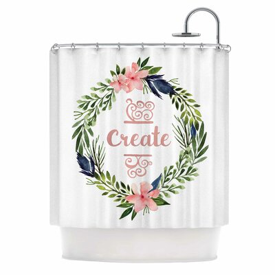 Create Typography Shower Curtain
