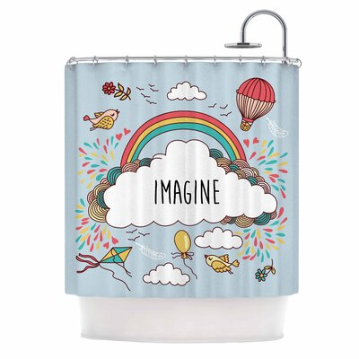 'Imagine' Fantasy Illustration Shower Curtain
