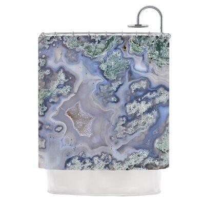 Pastel Geode Shower Curtain