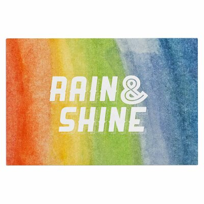 Rain & Shine Rainbow Decorative Doormat
