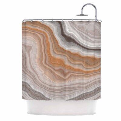 Burnt Shower Curtain