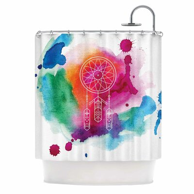 Dream in Color Rainbow Shower Curtain
