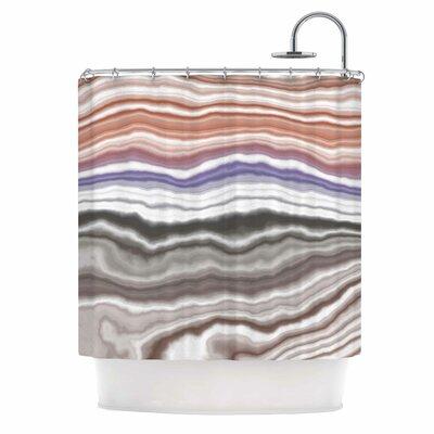 Iris Lake Bed Shower Curtain