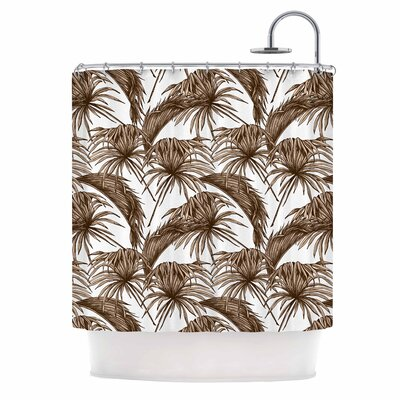 Palmtastic Nature Shower Curtain Color: Tan/Brown