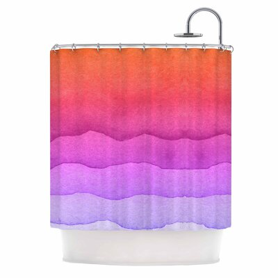Ombre Digital Shower Curtain Color: Sunset Coral