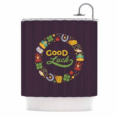'Good Luck!' Shower Curtain
