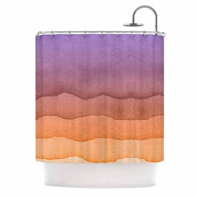 Ombre Digital Shower Curtain Color: Sunrise Orange
