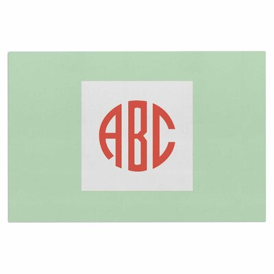 Classic Monogram Doormat Color: Green