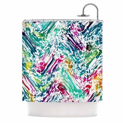 Strings Digital Shower Curtain