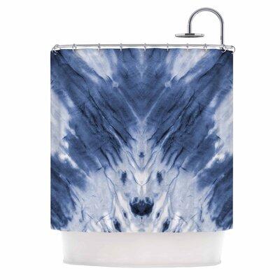 Blue Dye Shower Curtain