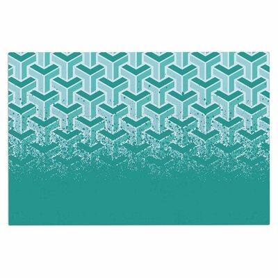No Yard Vector Decorative Doormat Color: Teal/White