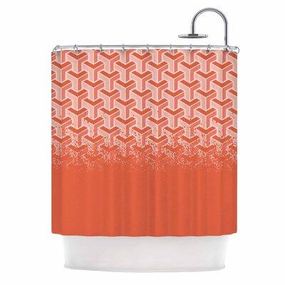 No Yard Coral Urban Shower Curtain