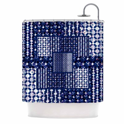 Morocco Blue Mixed Media Shower Curtain