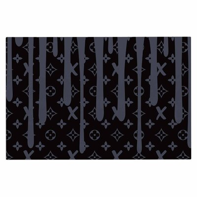 LX Drip Urban Decorative Doormat Color: Black/Gray