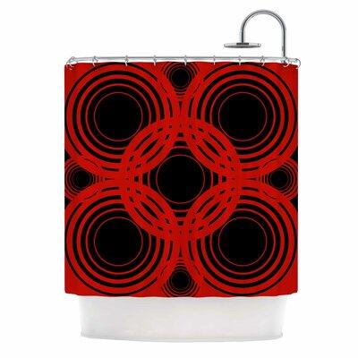 Geo Red Crimson Shower Curtain
