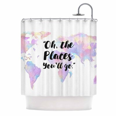 The Places YouLl Go Shower Curtain