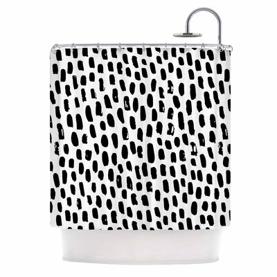 Ink Dots Shower Curtain