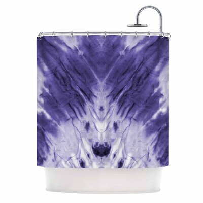 Violet Dye Digital Shower Curtain