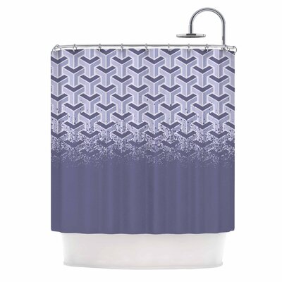 No Yard Vector Shower Curtain Color: Purple