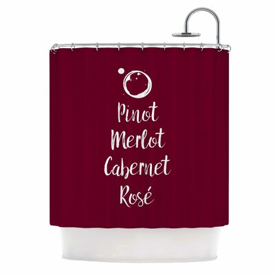 Pinot, Merlot, Cabernet, Ros�© Shower Curtain