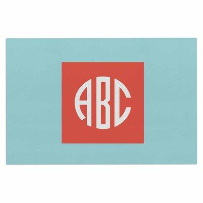 Classic Monogram Doormat Color: Teal