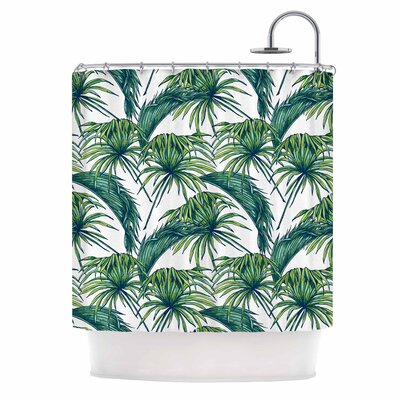 Palmtastic Nature Shower Curtain Color: Green