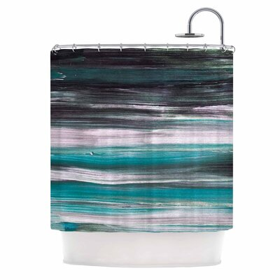 Mixed Brush Strokes Painting Shower Curtain
