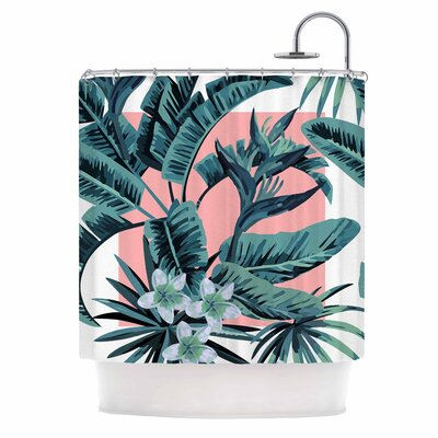 Monstera Nature Pop Art Shower Curtain