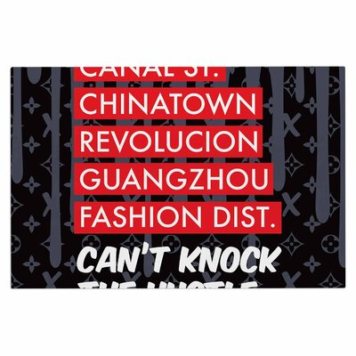 Cant Knock the Hustle Urban Decorative Doormat Color: Black/Red