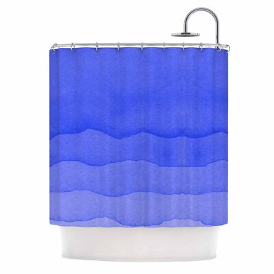 Ombre Digital Shower Curtain Color: Berry Blue
