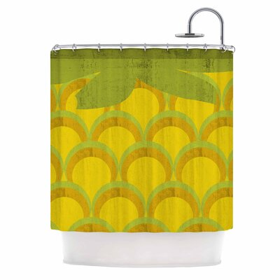 Pineapple Digital Food Shower Curtain