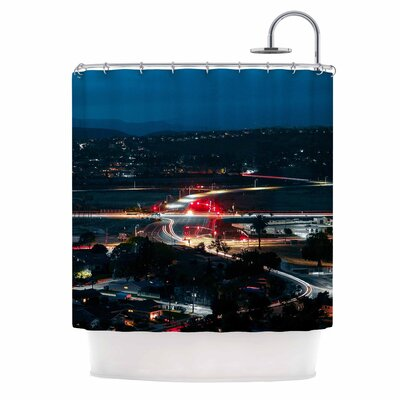 Chasing Lights Shower Curtain