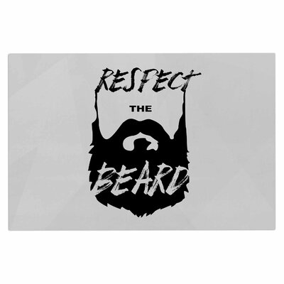 Respect the Beard Beard Decorative Typography Doormat