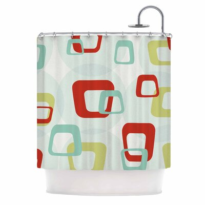 Retro Squares Shower Curtain